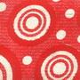 หนังเทียมลายวงกลมกราฟฟิค สีแดง