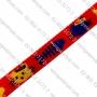 สายทอ ลายแฟนซีสีแดง 6 หุน สำหรับทำปลอกคอสัตว์เลี้ยง ม้วนละ 50 ม
