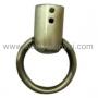 หูท่อต่อห่วงวงกลม (ที่ใส่สาย หูกระเป๋า) สีทอง-ดำ 3.2 ซม.