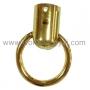 หูท่อต่อห่วงวงกลม (ที่ใส่สาย หูกระเป๋า) ชุบทอง เงา 3.2 ซม.