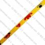 สายทอ ลายแฟนซีสีเหลือง 10 มิล สำหรับทำปลอกคอสัตว์เลี้ยงม้วนละ50ม