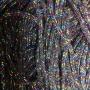 เชือกร่ม สีดำ แซมดิ้นรุ้ง 7 สี ถักกระเป๋า