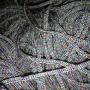 เชือกร่มถักกระเป๋า ดิ้นรุ้ง สีเทาอ่อน(เงิน)