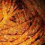 เชือกร่ม ถักกระเป๋า แซม ดิ้นรุ้ง สีส้ม