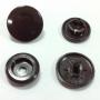 กระดุมพลาสติก ฝาหน้า-หลัง เท่ากัน ST5 หัว 12.5 ม. สีดำ