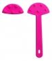 ก้านพัด พลาสติก 5 นิ้ว สีชมพู